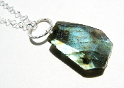 Labradorite Flash Long Pendant