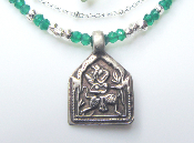 A Goddess in You— Antique Tribal Pendant: Hanuman, Green Opal