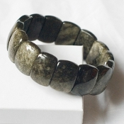 Golden-Sheen Black Obsidian Bracelet