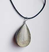 Golden-Sheen Black Obsidian Large Teardrop