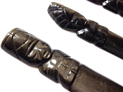GOLDEN-SHEEN BLACK OBSIDIAN CEREMONIAL KNIFE- MED. SZ.