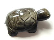 GOLDEN-SHEEN BLACK OBSIDIAN, TURTLE 1 - PROTECTION