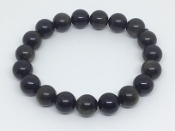 GOLDEN-SHEEN BLACK OBSIDIAN BRACELET- PROTECTION