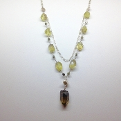 Natural Lime Phamtom Citrine Necklace