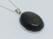 Golden-Sheen Black Obsidian Oval