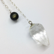 Pendulum 4- Clear Quartz Faceted