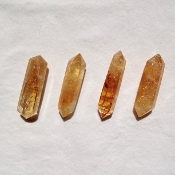 Citrine Double Terminated Carved Points